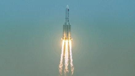 Chiny: Pozostałości rakiety Long March 5B wpadły do Oceanu Indyjskiego - GospodarkaMorska.pl