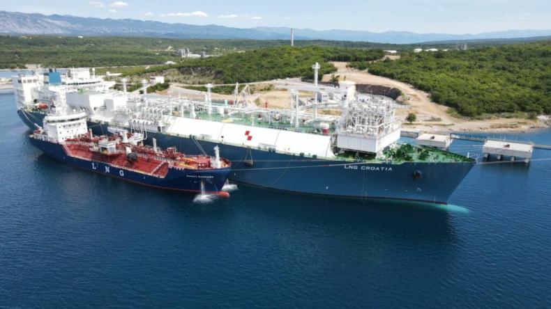 LNG Croatia kończy pierwszy przeładunek skroplonego gazu ziemnego na chorwackiej wyspie Krk - GospodarkaMorska.pl