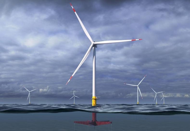 GE przedstawił nową koncepcję pływającej turbiny wiatrowej o mocy 12 MW - GospodarkaMorska.pl