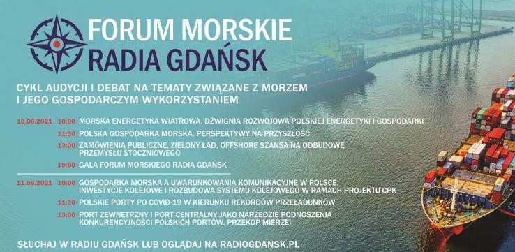 Finał I Forum Morskiego Radia Gdańsk. Morska energetyka wiatrowa, perspektywy na przyszłość i odbudowa przemysłu stoczniowego [HARMONOGRAM] - GospodarkaMorska.pl
