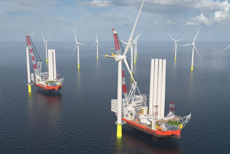 Złożono zamówienie na dwa z największych na świecie statków do instalacji turbin wiatrowych - GospodarkaMorska.pl