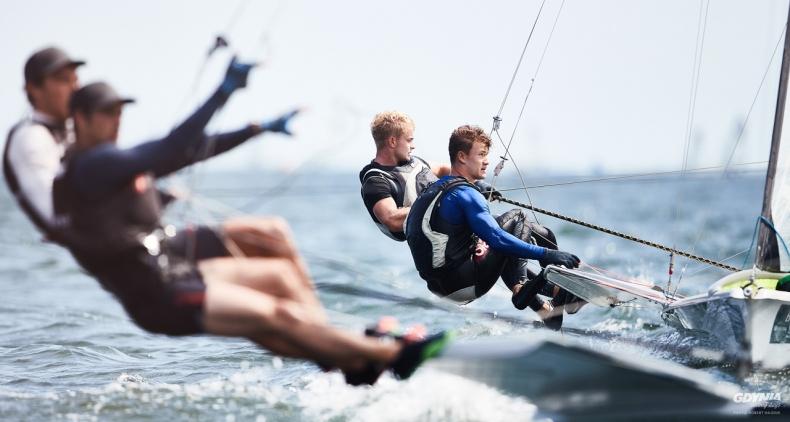 Gdynia Sailing Days. Polscy żeglarze na czele mistrzostw świata juniorów w klasie 49er [ZDJĘCIA] - GospodarkaMorska.pl