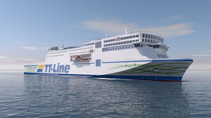 Kolejny krok w kierunku zrównoważonego rozwoju: TT-Line świętuje udane wodowanie drugiego promu Green Ship - GospodarkaMorska.pl