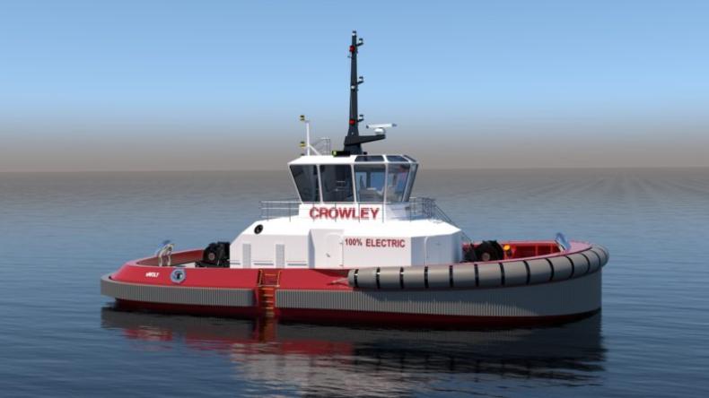 Crowley planuje budowę pierwszego w pełni elektrycznego holownika - GospodarkaMorska.pl