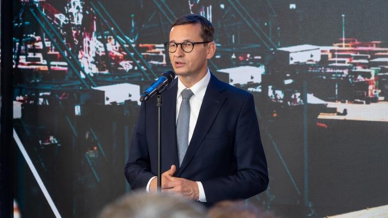 Morawiecki w Porcie Gdańsk: rozbudowa terminalu DCT Gdańsk zwiększy możliwości przeładunkowe o półtora miliona TEU - GospodarkaMorska.pl