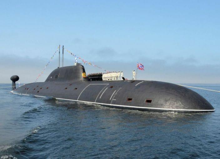 Okręt atomowy Krasnojarsk projektu Jasień-M zwodowano w Siewierodwińsku - GospodarkaMorska.pl