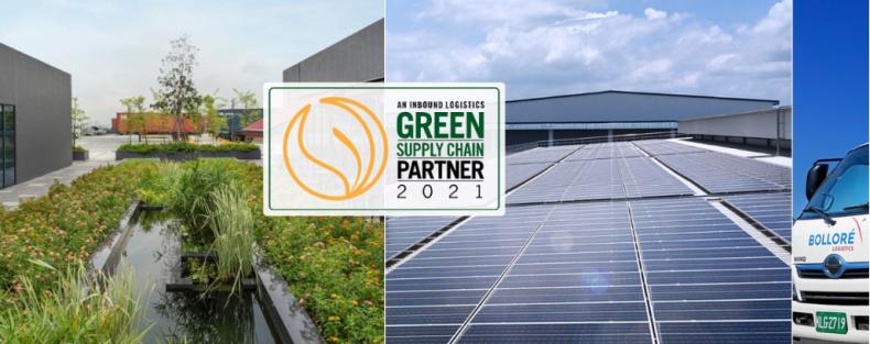 """Bolloré Logistics uznany za """"partnera zielonego łańcucha dostaw na rok 2021"""" przez Inbound Logistics  - GospodarkaMorska.pl"""
