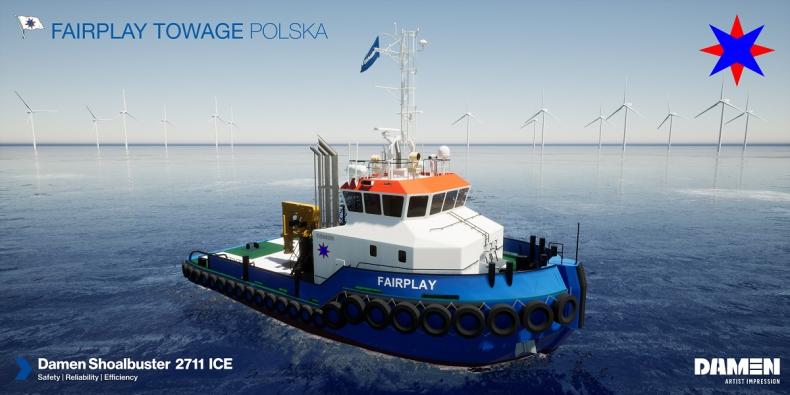Damen zbuduje Shoalbuster 2711 ICE dla Fairplay Towage Polska - GospodarkaMorska.pl