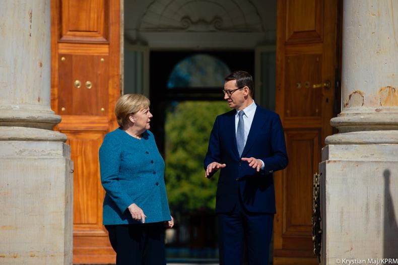 Morawiecki i Merkel o bezpieczeństwie Nord Stream2 - GospodarkaMorska.pl