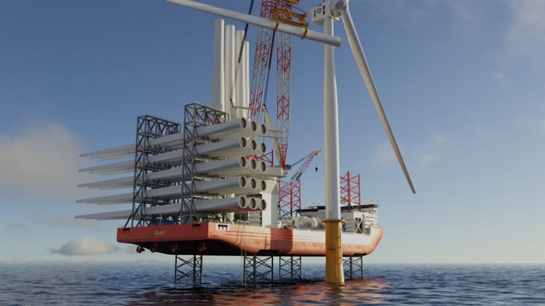 NED Project. Zatwierdzono projekt statku WTIV napędzanego wodorem - GospodarkaMorska.pl