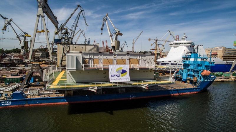 Nasuwanie modułu platformy Johan Sverdrup na statek Meri-GospodarkaMorska.pl