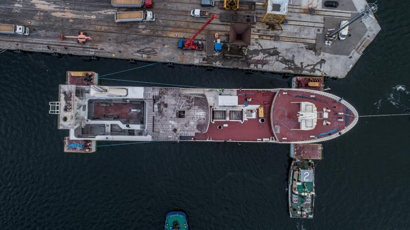 W stoczni Karstensen Shipyard Poland w Gdyni zwodowano statek rybacki dla Islandczyków [foto, wideo]-GospodarkaMorska.pl