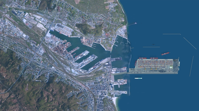 Port Zewnętrzny w Porcie Gdynia wchodzi w kluczowy etap [wideo]-GospodarkaMorska.pl