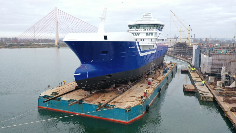 Stocznia Marine Projects Ltd. przekazała Norwegom statek do transportu żywych ryb [foto, wideo]-GospodarkaMorska.pl