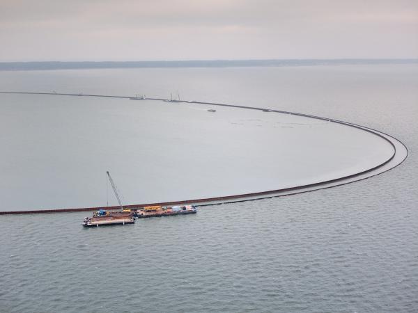 Grudzień na budowie drogi wodnej łączącej Zalew Wiślany z Zatoką Gdańską [foto, wideo]-GospodarkaMorska.pl