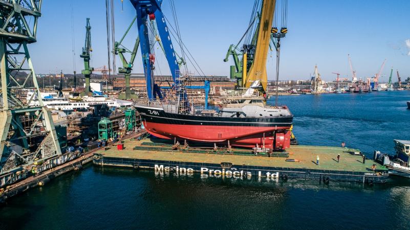 W stoczni Safe w Gdańsku zwodowano statek rybacki dla holenderskiego Damena-GospodarkaMorska.pl
